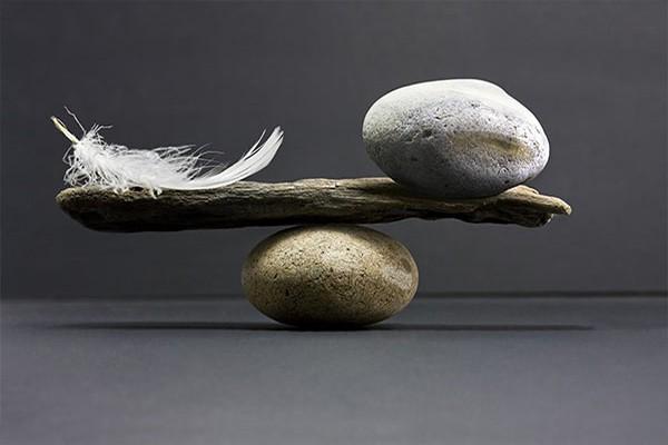 Tableau deco equilibre